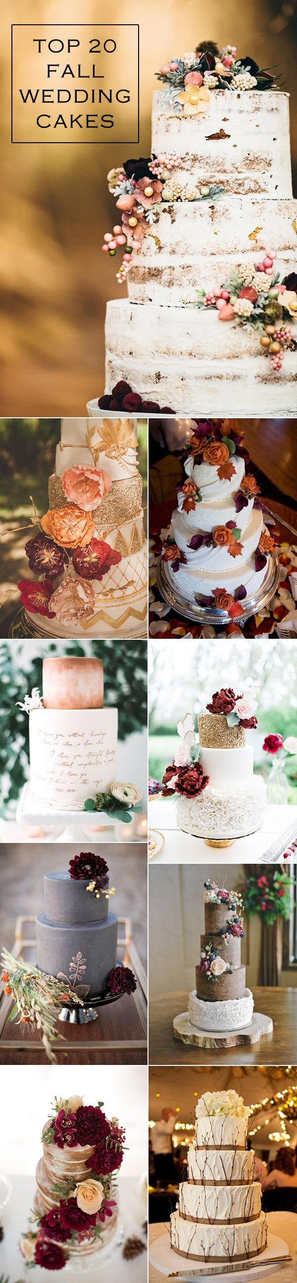 2016 trending top fall wedding cakes for autumn wedding ideas                                                                                                                                                                                 More