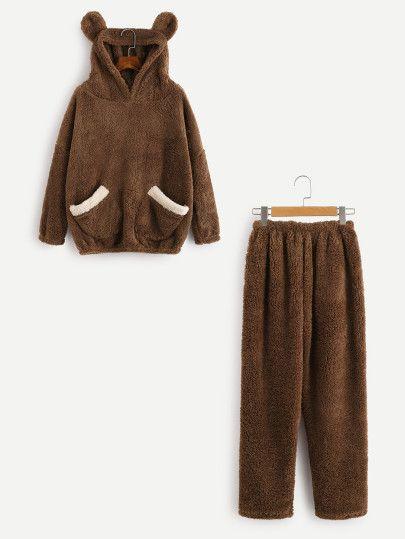 Conjunto de pijama oso