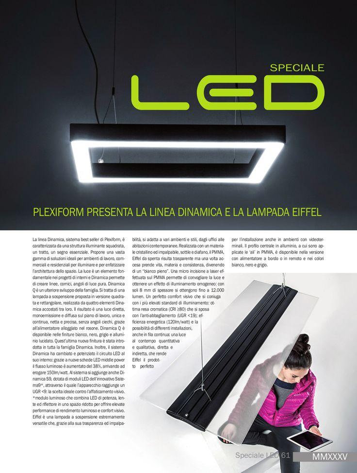 Italian Lighting magazine, Dinamica and Eiffel lamp by Plexiform