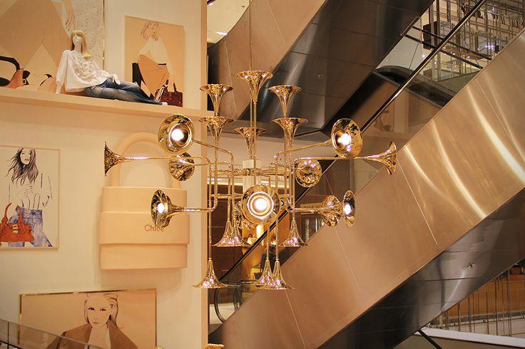 Light design / Illuminazione Interni: Botti_Unique ceiling lamp Salerno Design