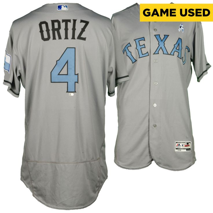 Luis Ortiz Texas Rangers Fanatics Authentic Game-Used #4 Gray and Baby Blue Jersey vs. St Louis Cardinals on June 19, 2016 - $239.99