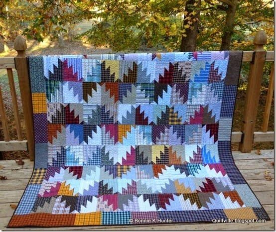 Misty Mountain Quilt Pattern - Lay back with a good book and imagine you are cuddled up in the mountains in front of a roaring fire with this stunning Misty Mountain Quilt Pattern.