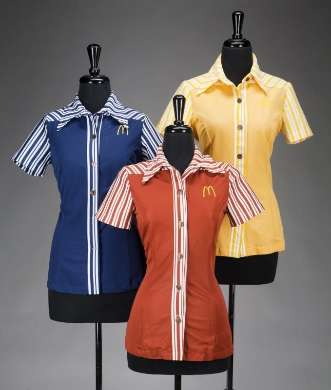 McDonalds uniform --I wore the blue one... with white shoes!
