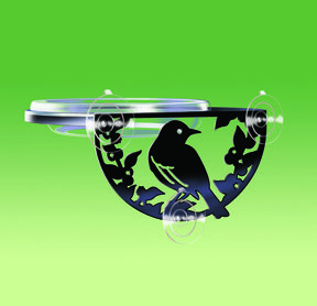 SIL-W  Silhouette Window Feeder Window dish  for seed, fruit, mealworms...