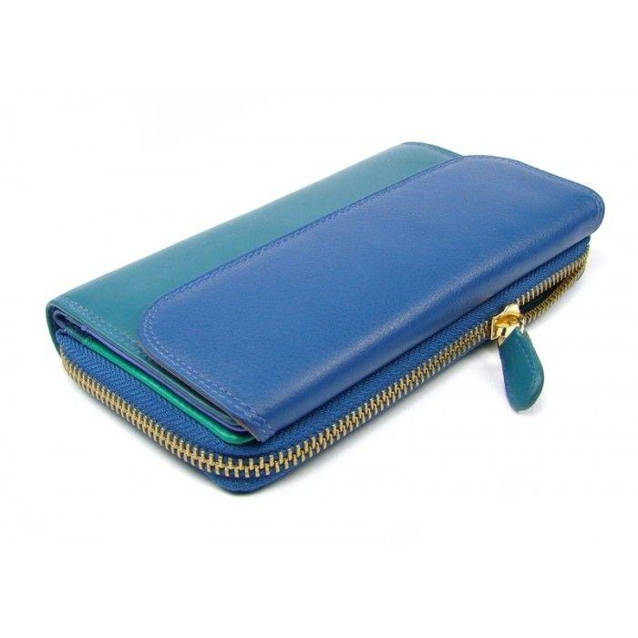 Barevná kožená peněženka dámská - peněženky AHAL