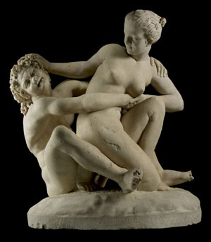Greek Hellenistic. A satyr and nymph.
