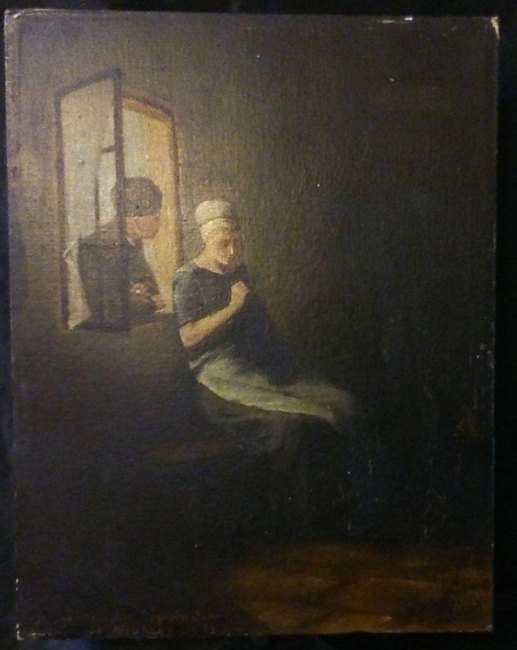 Ancienne huile sur carton XIXeme D après une reproduction de Paul NEUHUYS signé