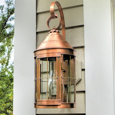 Superb Northeast Lantern Heal Wall Lantern In Copper Finish