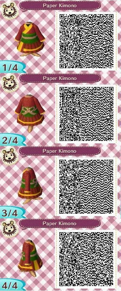 Animal Crossing New Leaf QR Codes. Goes well with the paper umbrella.
