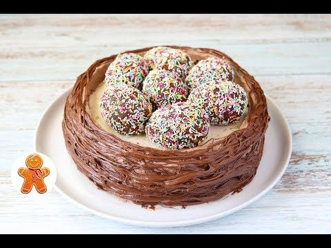 """Пасхальный Торт """"Гнездышко"""" - YouTube"""