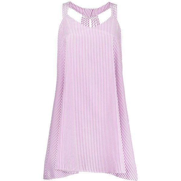 Plus Size Striped Strappy Flare Dress Pink 2xl (58 MYR) ❤ liked on Polyvore featuring dresses, women plus size dresses, striped dresses, plus size pink dresses, strappy dress and pink fit-and-flare dresses