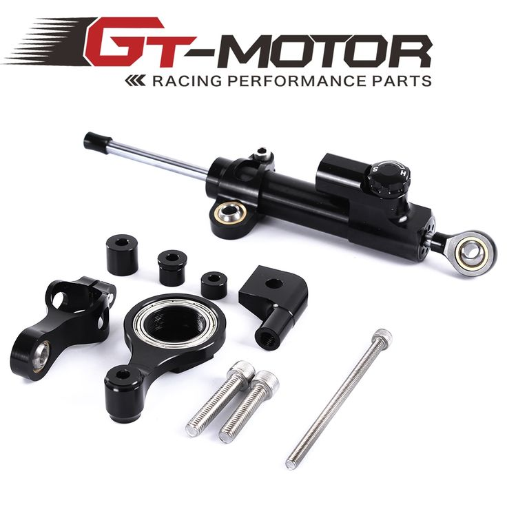 36.00$  Buy here  - GT Motor - Steering Damper Set for YAMAHA YZF R6 06 07 08 09 10 11 12 13 14 w/ bracket kits