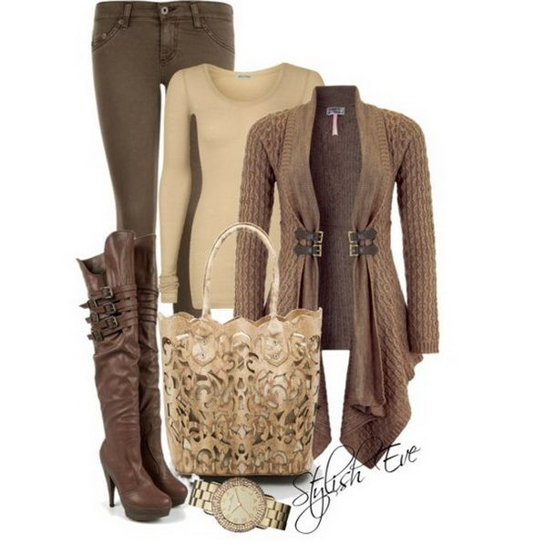 Like this...not likely I'll get to wear anything like it living in FL, though! Brown-Winter-2013-Outfits-for-Women-by-Stylish-Eve_11