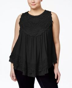 American Rag Plus Size Crochet Swing Top, Only at Macy's | macys.com