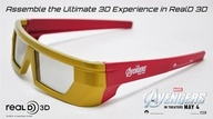 Iron Man Special Edition RealD 3D Glasses for Avengers.