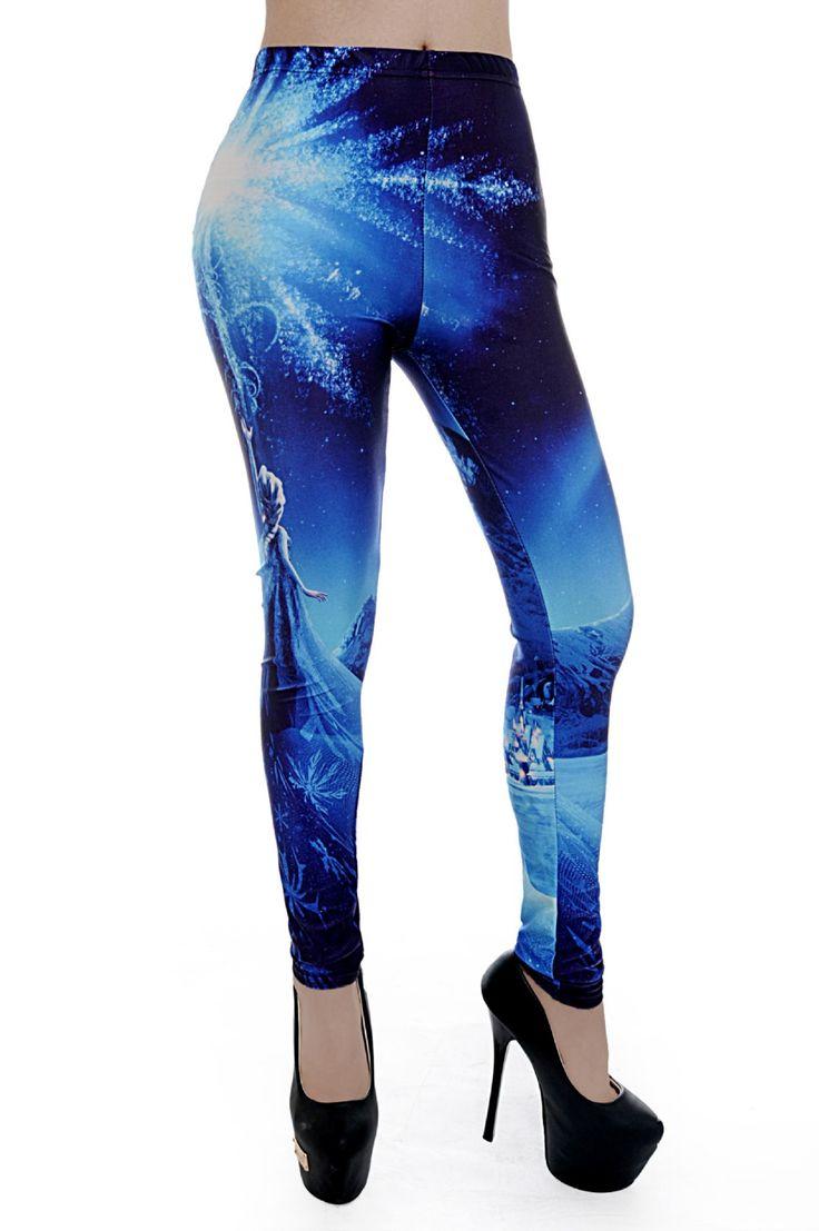 Fitness Leggings 2017 New Women's Jeggings Summer Sporting Princess  Digital Printing Galaxy Blue Pants Pencil Slimer Trousers //Price: $14.26 & FREE Shipping //     #sexyleggings