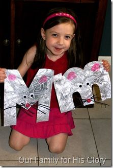 Pictures for all the letters, abc crafts.