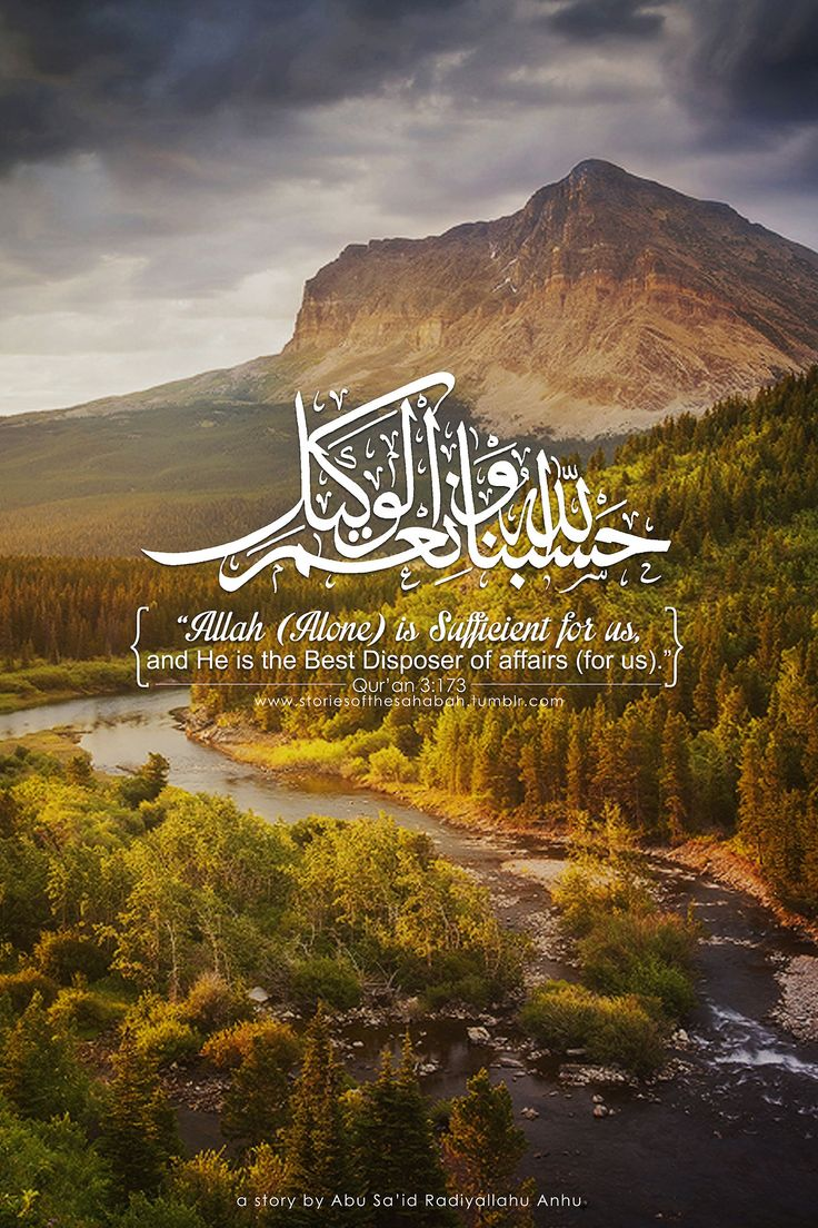 Allah (Alone) is Sufficient for us, and He is the Best Disposer of affairs (for us).