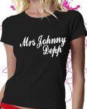 Fabric flavours Mrs Johnny Depp T-shirt,M  Mrs Johnny Depp T-shirt (Barcode EAN = 5060153238120).  http://www.comparestoreprices.co.uk/t-shirts/fabric-flavours-mrs-johnny-depp-t-shirt-m.asp