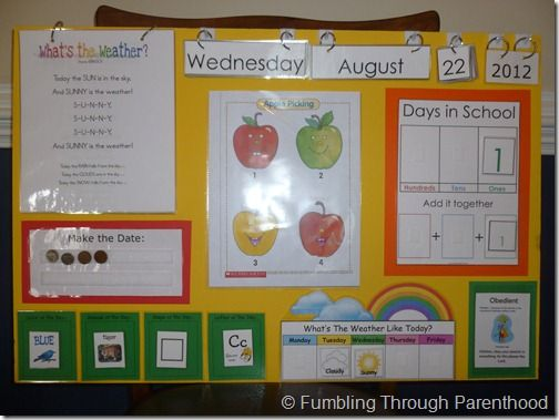 Great ideas for morning circle time for home preschool.