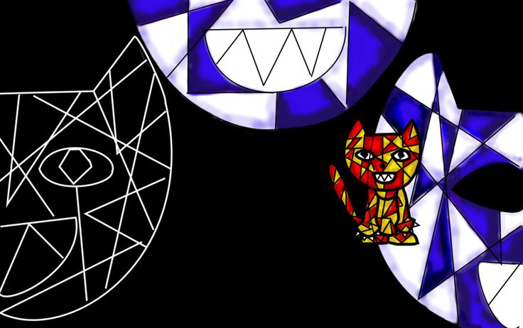 Cubism Killed the Cat (Original) by ReinaVilla.deviantart.com