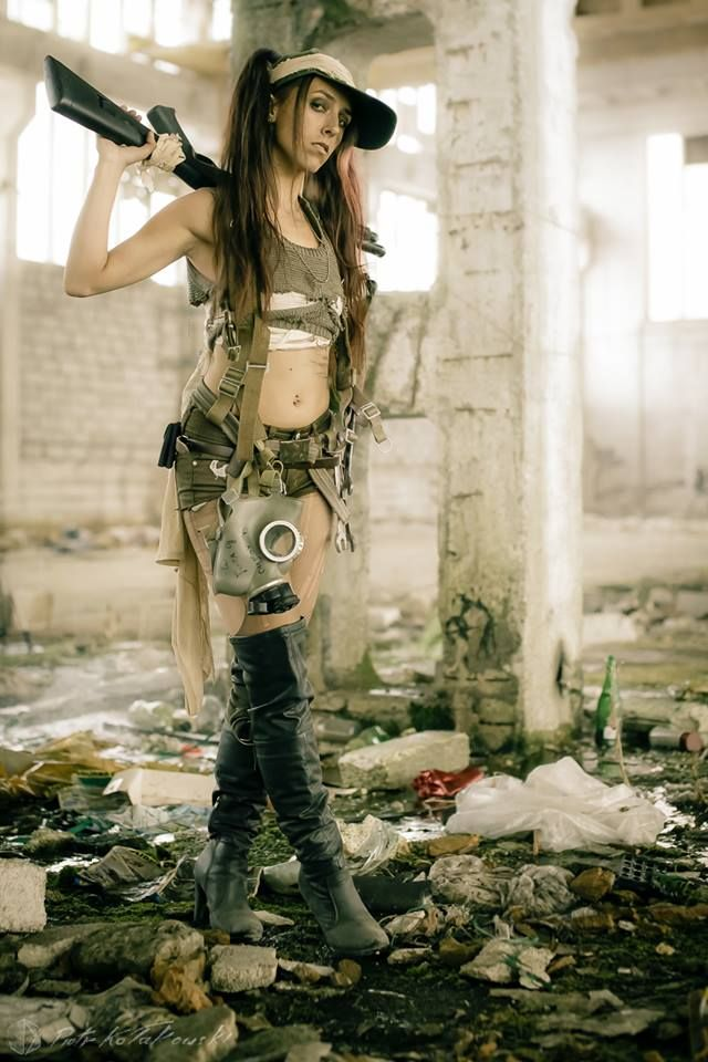 Post apocalyptic girl by LiaSivain.deviantart.com on @DeviantArt