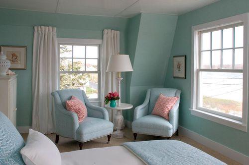 Sea green bedroom suite
