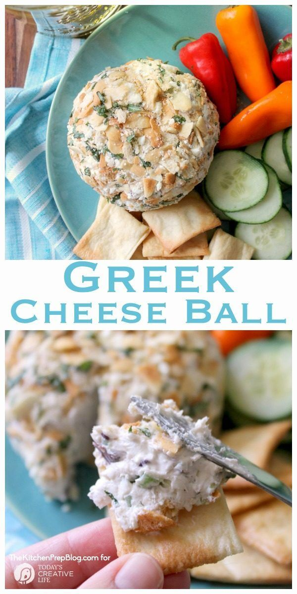 Greek Cheese Ball Recipe | Cheese Balls are easier to make than you think! The perfect party appetizer or weekend snack. Find the…