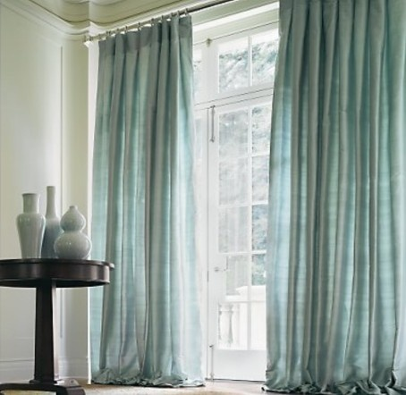 Pin by christie hart on doors and windows pinterest for Restoration hardware silk curtains