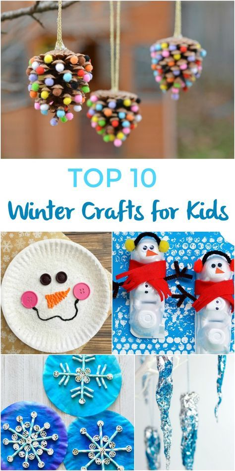 Top 10 Winter Crafts For Kids Love The Cute Pinecone Craft Kids