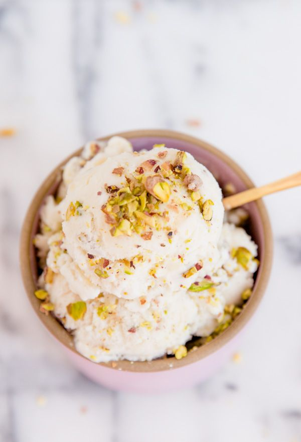 Pistachio Pear Ice Cream Recipe