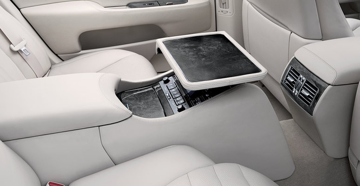 LS 460 L shown in Light Gray leather trim with available Executive-Class Seating Package