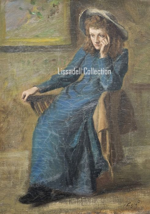 Eva Gore Booth painted by Constance Markievicz