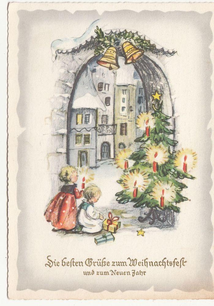 Ak - Kinder mit geschmückten Christbaum - Weihnachten Neujahr - 1960 ! ( A 26