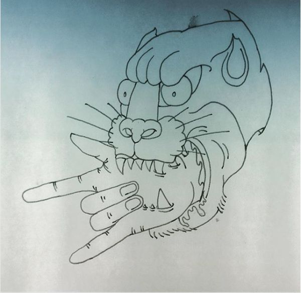 🔥🤘🏻Angry Panther🤘🏻🔥  #panthertattoo #illustration #newschooltattoo #rocksign #cycomind