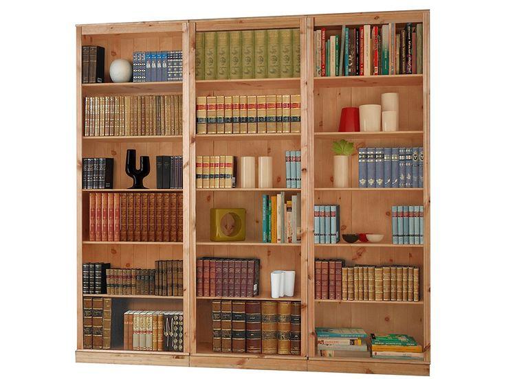 Bücherregale, Bibliotheksregale METEORA Kiefer massiv gebeizt geölt, weiß, havanna (2, gebeizt geölt): Amazon.de: Küche & Haushalt
