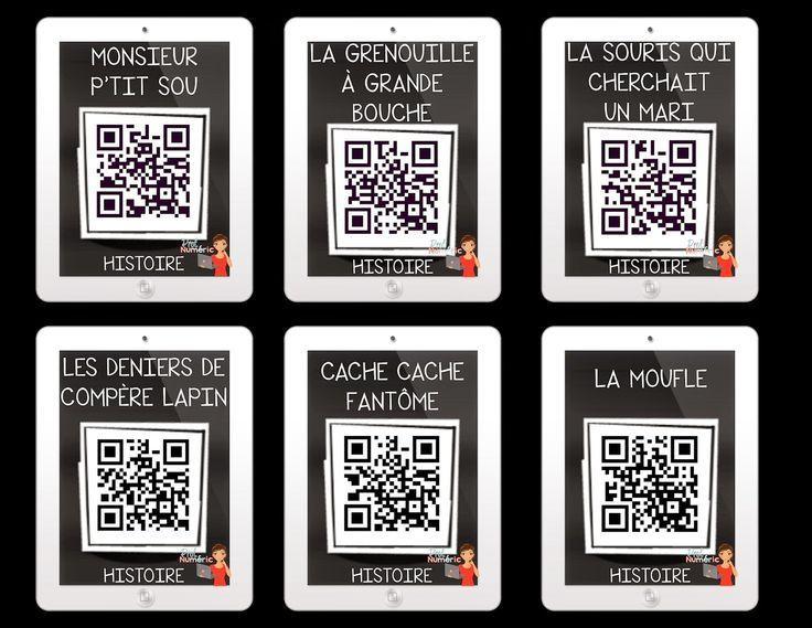 GRATUIT- Codes QR avec 12 signets iPad-Histoires AUDIO avec Codes QR #EdTech #FSL #QRcodes