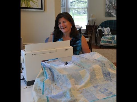 ▶ Edge to Edge Quilting with Embroidery Machine - YouTube