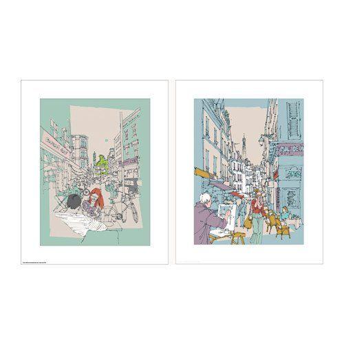 "Ikea Tvilling Prints Set of 2 Posters 16 1/4"" x 20"": Amazon.ca: Home & Kitchen"