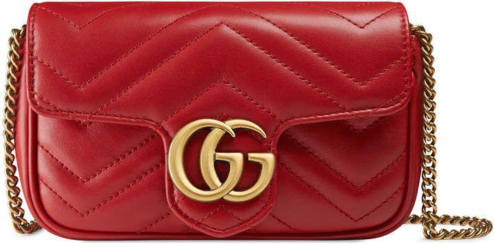 b4bbc12ce044 GG Marmont matelassé leather super mini bag #Gucci #ShopStyle #MyShopStyle  click link to