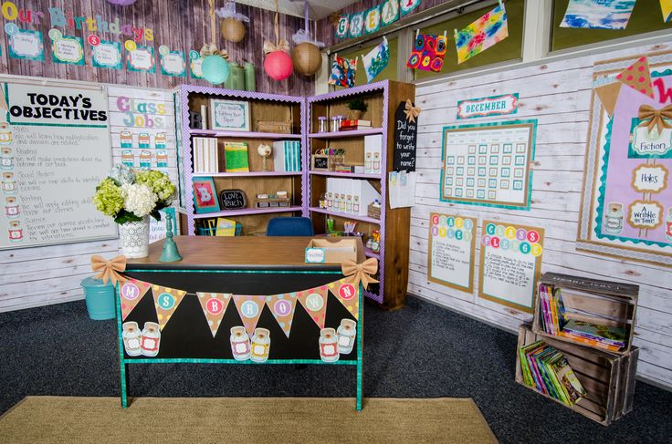 Add vintage flair to your classroom with the new Shabby Chic Collection from our Signature Line. The Burlap and Mason Jar Accents are so charming you'll want to add them to every inch of your classroom. Soft colors like rose, orchid, and teal coordinate perfectly with the burlap and wood-inspired decorations.