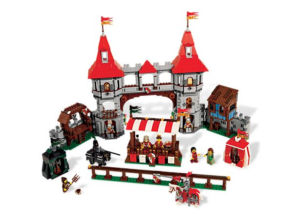 Watch the Knights battle it out at the Royal Joust!  LEGO Kingdoms Theme Joust     Item: 10223     Ages:12+     Pieces:1575