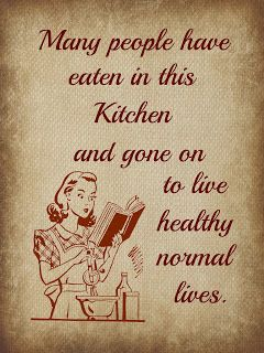 Many people have eaten in this KITCHEN and gone on to live healthy normal lives. #cooking #humor