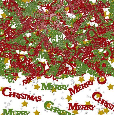 Julekonfetti til julefrosten. Pose med flere hundrede små konfetti.