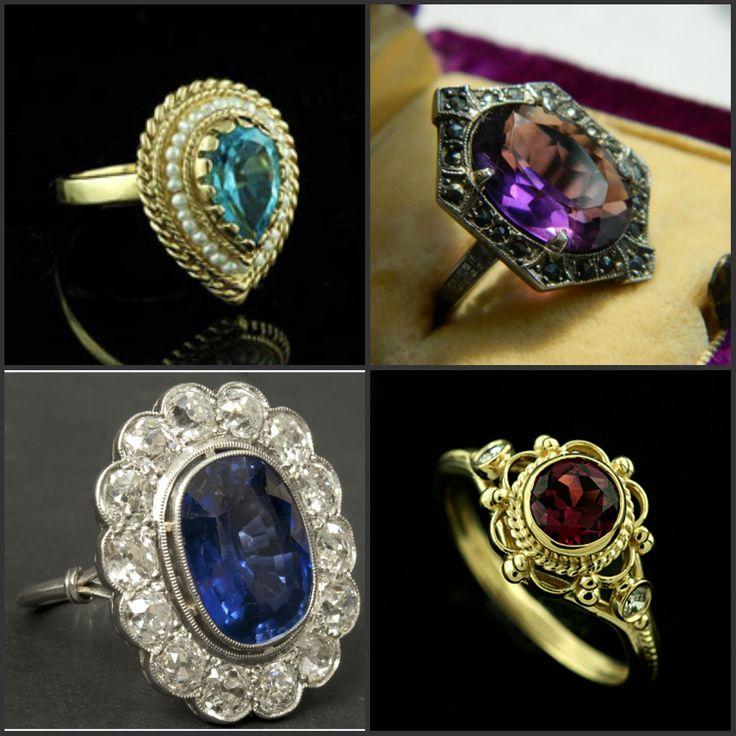 Прекрасные антикварные кольца.