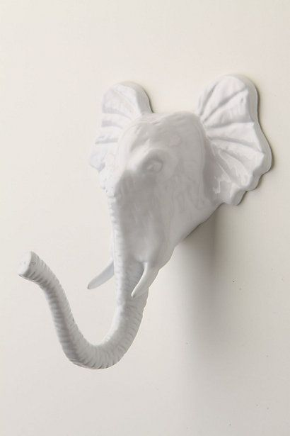 This gorgeous hook is on the nursery closet door!