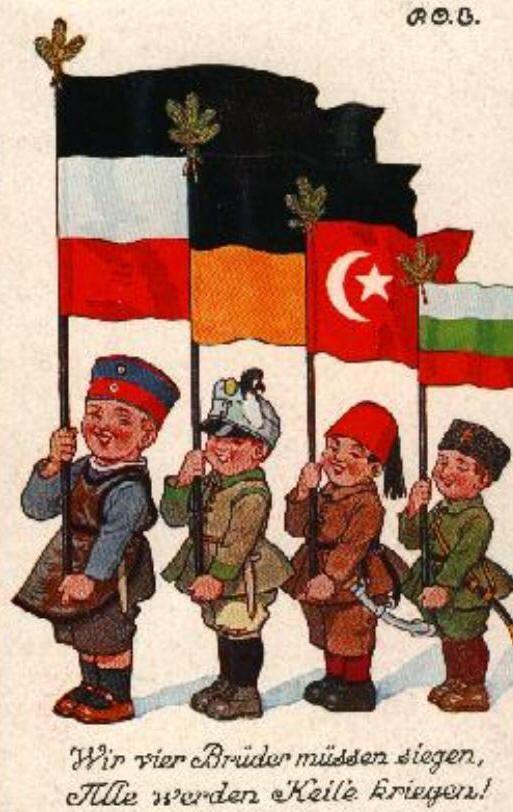 da sx Germania, Austria, Turchia, Bulgaria