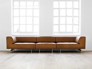 Delphi sofa by Erik Jørgensen. Cognac leather<3 check it out at Thalatta seaside hotel evia Greece!