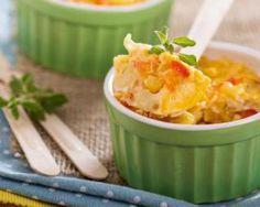 Petits flans aux petits légumes et restes de coquillettes : http://www.fourchette-et-bikini.fr/recettes/recettes-minceur/petits-flans-aux-petits-legumes-et-restes-de-coquillettes.html