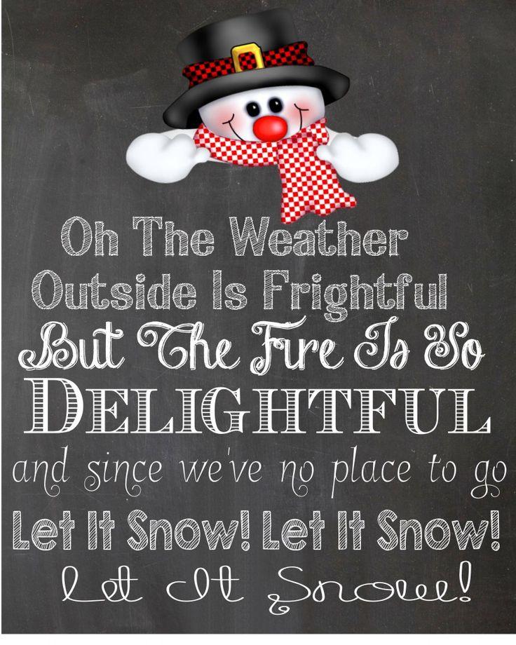 Let It Snow, Let It Snow, Let It Snow {Free Printable} - Heather's Happenings